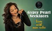 Gypsy Pearl Necklace from online Jewellery store Tajpearl.