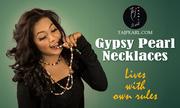 Gypsy Pearl Necklace from online Jewellery store Tajpearl.